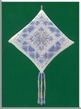 Mill Hill Treasured Diamond - Ice Blue Snowflake (MHTD17)
