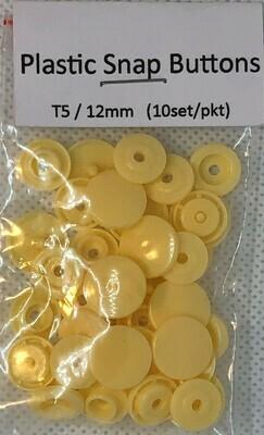 Plastic Snap Buttons T5/12mm (10set/pkt) Butternut