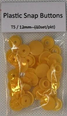 Plastic Snap Buttons T5/12mm (10set/pkt) Pumpkin