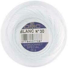 DMC Cordonnet #010 Cotton Blanc - White