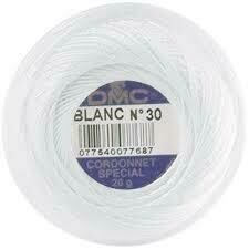 DMC Cordonnet #100 Cotton Blanc - White