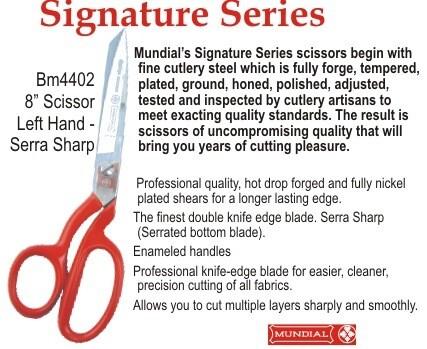 "Mundial Signature Series Dressmaking Shears 08"" LH"