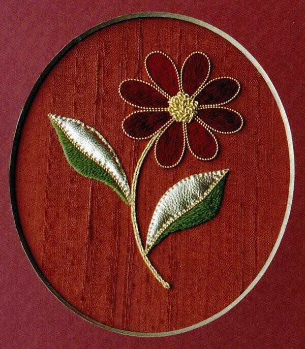 Alison Cole Goldwork Embroidery Beginners Daisy