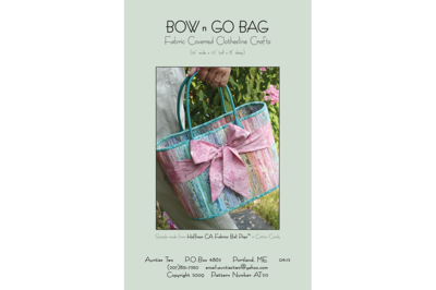 Aunties Two - Bow n Go Bag Pattern