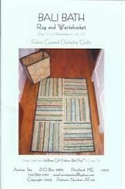 Aunties Two Bali Bath Rug & Wastebasket Pattern