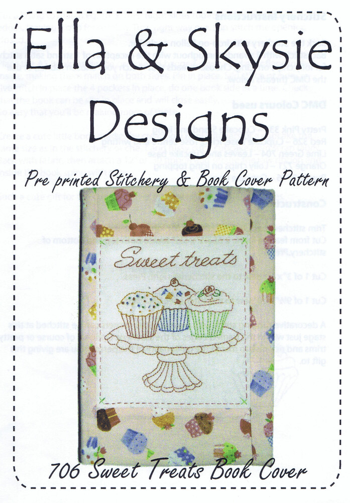 Ella & Skysie Designs Sweet Treats Book Cover (706)