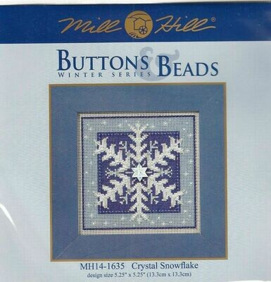 Mill Hill Buttons & Beads Winter Series - Crystal Snowflake (MH14-1635)