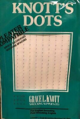 Knott's Dots Smocking Transfer