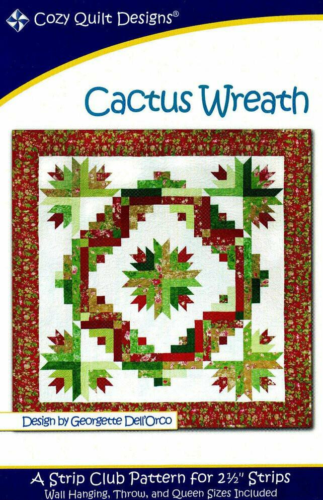 Cozy Quilt Designs - Cactus Wreath