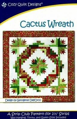 Cozy Quilt Designs - Cactus Wreath