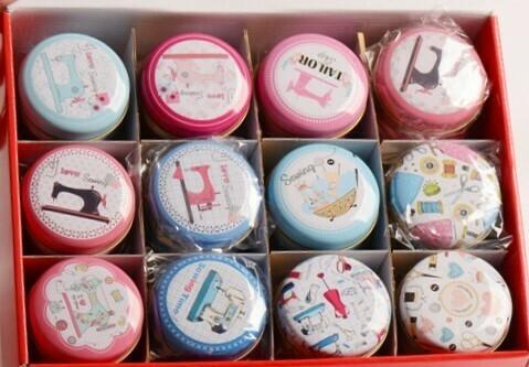 Box - Round Sewing Tin