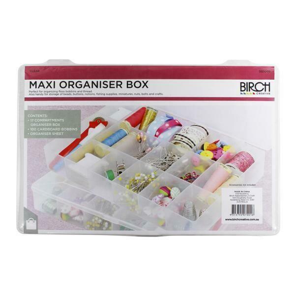 Birch - Floss Organiser Box with 100 floss cards (007009)