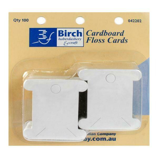 Birch - Floss Cards Cardboard 100pk (042202)