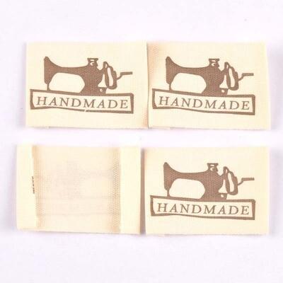 Fabric Label - 'Handmade' Sewing Machine Design 10/pkt