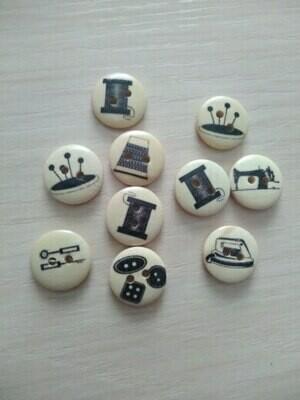 Timber Buttons - 15mm (4/pkt)