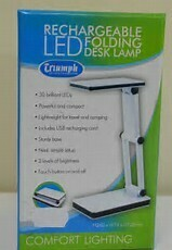 Triumph Rechargeable Folding LED Desk Lamp White (OD188.W)