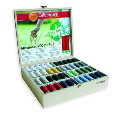 Gutermann Sew-all 80 reels/200m with Timber Case