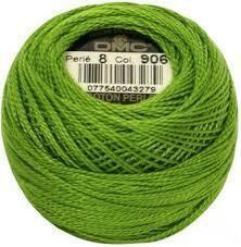 DMC116 Perle 08 Ball 0906 - Medium Parrot Green