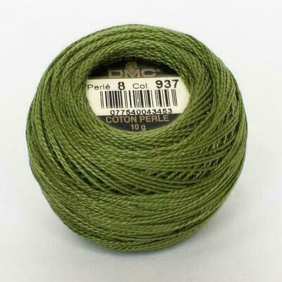 DMC116 Perle 08 Ball 0937 - Medium Avocado Green