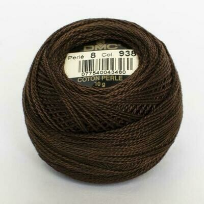 DMC116 Perle 08 Ball 0938 - Ultra Dark Coffee Brown