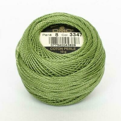 DMC116 Perle 08 Ball 3347 - Medium Yellow Green