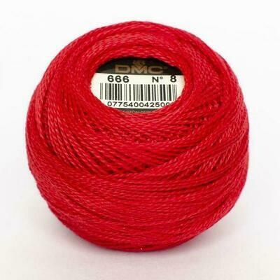 DMC116 Perle 12 Ball 0666 - Bright Red