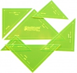 Template Set Triangle 90deg 6pc (2.5