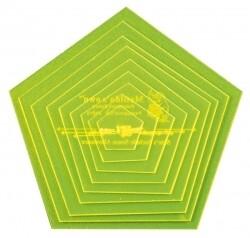 "Template Set Pentagon (1.0""-5.0"") 9pc - Sml (VH015)"