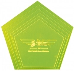 Template Set Pentagon 6pc (5.5