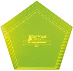 Template Set Pentagon 5pc (8.5