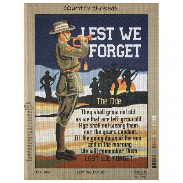 Country Threads Tapestry - Lest We Forget (TFJ-1051)