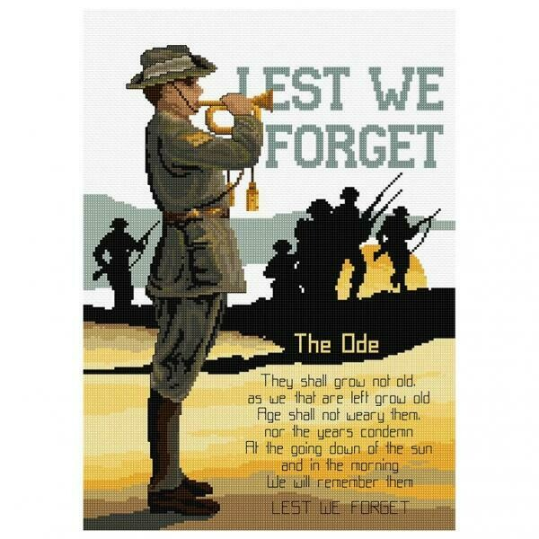 DMC Country Cross Stitch Kit - Lest We Forget  (FJ1051)
