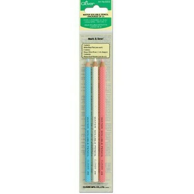 Clover Water Soluble Pencil 3pkt - White, Pink & Blue (5003)