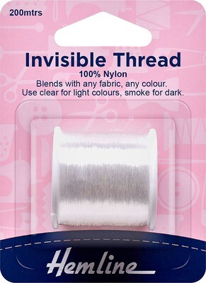 Hemline Invisible Thread 200m Clear (240)