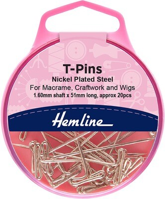 Hemline T-Pins 20pc (709)