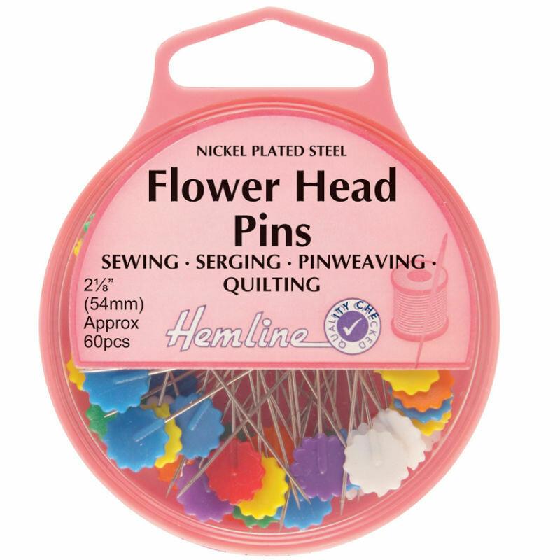 Hemline Flat Flower Head Pins (707)