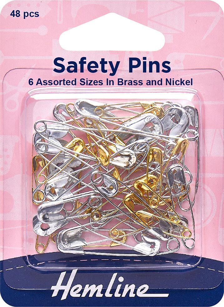 Hemline Assorted Safety Pins 48pkt (415.99)