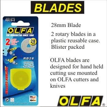 OLFA Rotary Blade 28mm 2pkt RB18-2 (OL4108)