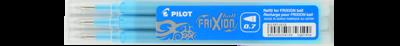 Pilot Frixion 0.7 Pen Refills 3pkt - Light Blue