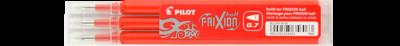 Pilot Frixion 0.7 Pen Refills 3pkt - Red