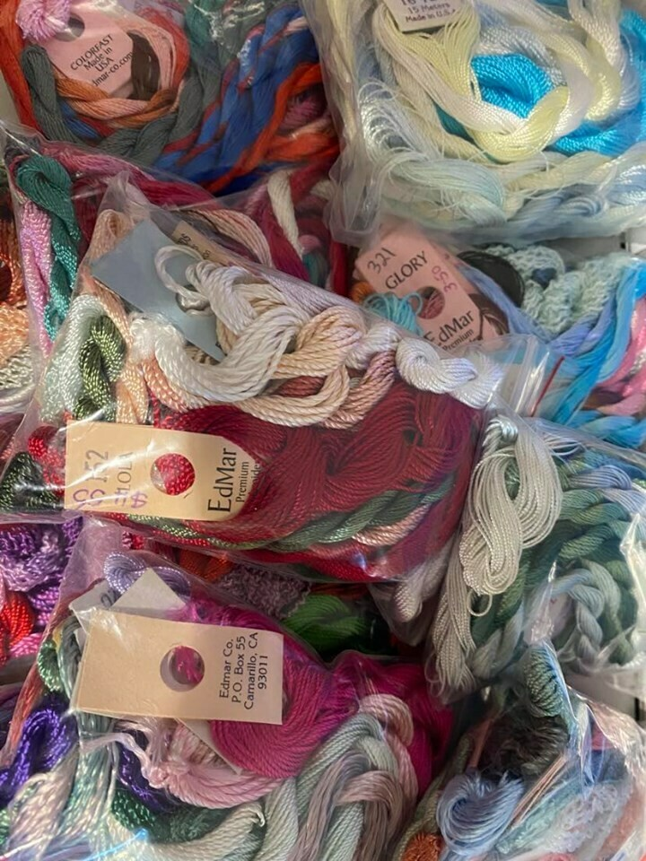 Edmar Embroidery Threads 10pkt Mixed Variety Pack
