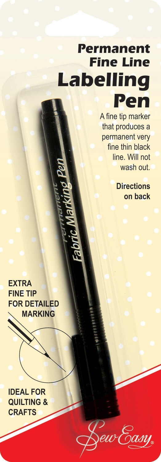 Sew Easy Labelling Pen Permanent Extra Fine Line Black (ER297.F)
