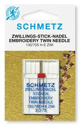 Schmetz Embroidery Twin - 3.0/75