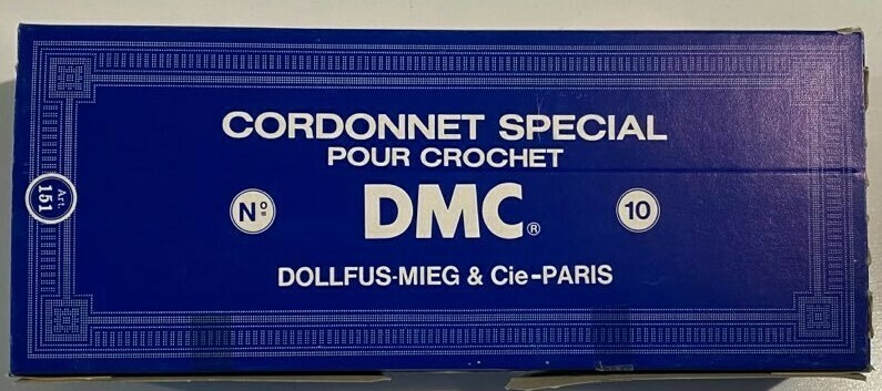 DMC Cordonnet #010 Cotton Blanc - White (Old Stock)(Box of 10)