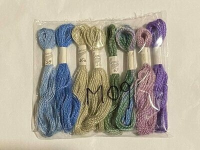 Mogear Gossamer & Silky Mohair Yarn Combination (8 Pkt) Colours 27 , 28 , 40a , 58 , 67 , 22s , 40as , 57s