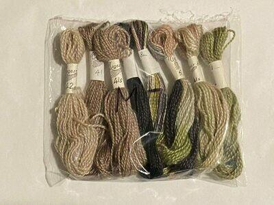 Mogear Gossamer & Silky Mohair Yarn Combination (8 Pkt) Colours 4 , 41 , 56 , 39s , 40/41s , 41s , 42s , 56s