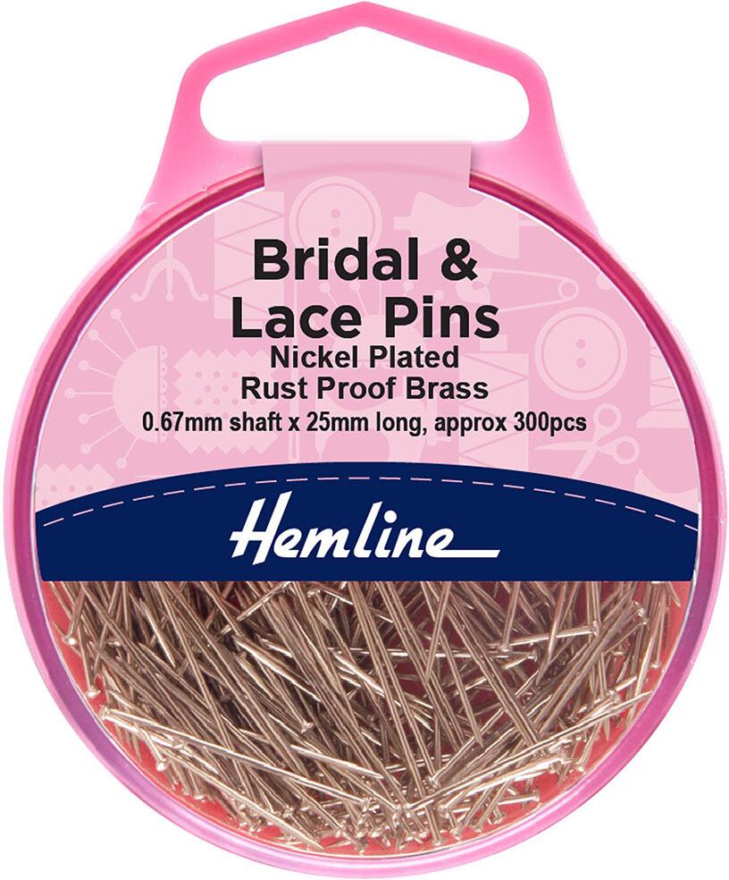 Hemline Bridal & Lace 25mm x 0.67mm 300pkt (702)