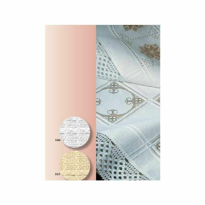 Anne Cloth Afghans 18ct w.145cm per metre - White (7588.100)