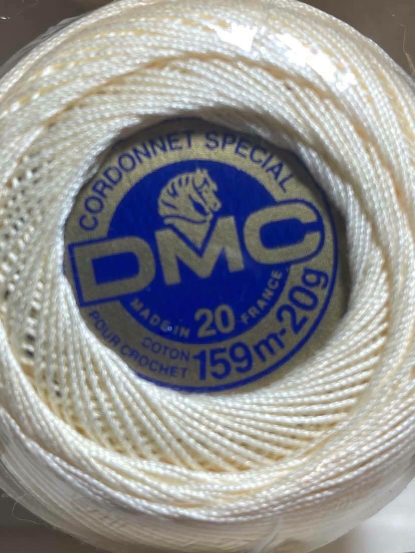DMC Cordonnet #020 Cotton 0713 - Bright Cream (Discontinued Colour)