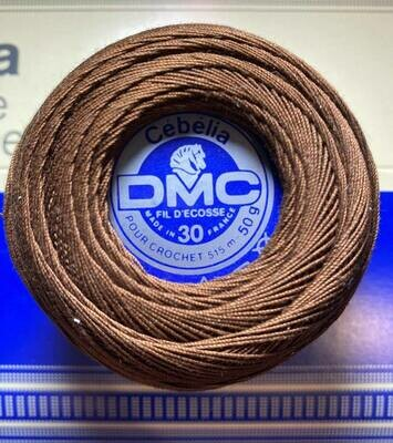 DMC Cebelia #030 Cotton 0801 - Dark Coffee Brown